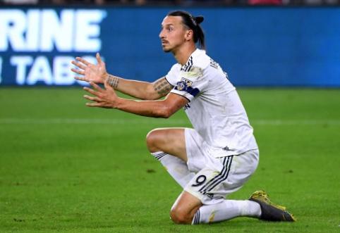"""Šmaikščią žinutę parašęs Z. Ibrahimovičius oficialiai atsisveikino su """"Galaxy"""" klubu"""