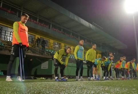 Lietuvos rinktinė surengė treniruotę prieš skrydį į Portugaliją