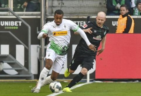"""""""Gladbach"""" ir toliau nemažina apsukų Vokietijoje, """"Freiburg"""" palaužė """"Eintracht"""" ekipą"""