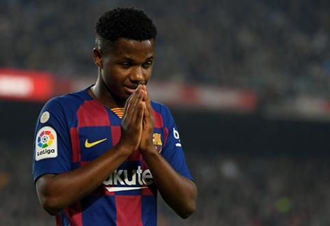 """A.Fati: """"Tikiuosi """"Barcelona"""" ekipoje praleisti visą savo gyvenimą"""""""