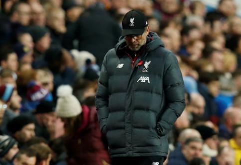 """J. Kloppas po mačo su """"Aston Villa"""" buvo nepatenkintas VAR teisėjų darbu"""