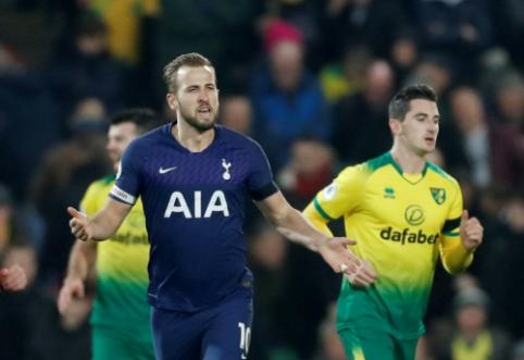 """""""Tottenham"""" vargo su """"Norwich"""", """"Leicester"""" grįžo į pergalių kelią"""