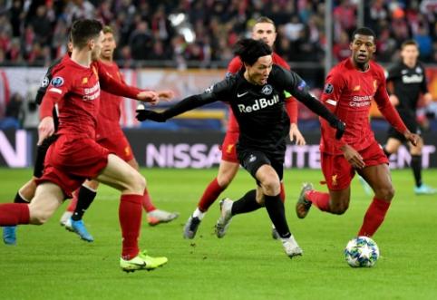 """""""Salzburg"""" patvirtino apie derybas su """"Liverpool"""" dėl T. Minamino"""