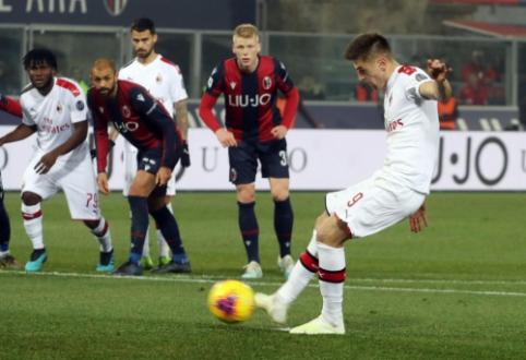 """""""AC Milan"""" rezultatyvioje dvikovoje įveikė """"Bologna"""""""