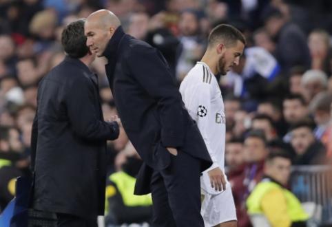 """Z. Zidane'as apie E. Hazardo traumą: """"Tai didžiulė netektis, ypač prieš gruodį laukiantį tvarkaraštį"""""""