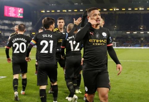 """""""Man City"""" sutriuškino """"Burnley"""", """"Bournemouth"""" patyrė ketvirtąją nesėkmę paeiliui"""