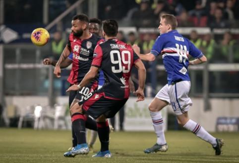 """""""Cagliari"""" neįtikėtinoje dramoje palaužė """"Sampdoria"""""""