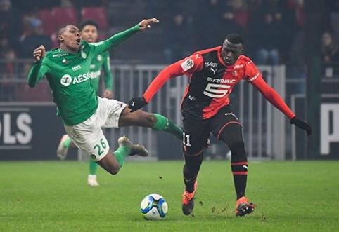 """""""Ligue 1"""": """"Rennes"""" šventė pergalę, PSG mačas – nukeltas"""