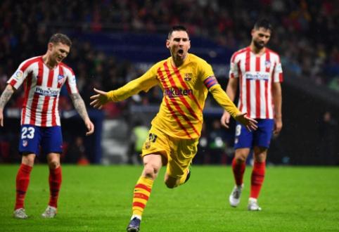"""L. Messi reidas rungtynių pabaigoje pražudė """"Atletico"""" komandą"""