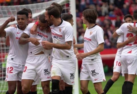"""Lyderių nepaleidžianti """"Sevilla"""" minimaliu skirtumu įveikė """"Leganes"""""""