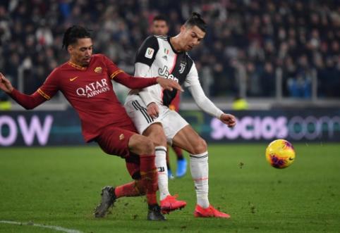 """Italijos taurė: """"Roma"""" neprilygo C.Ronaldo kariaunai"""