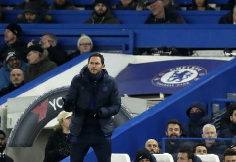 """Po lygiųjų su """"Arsenal"""" F. Lampardas ir vėl buvo nepatenkintas progų realizacija"""