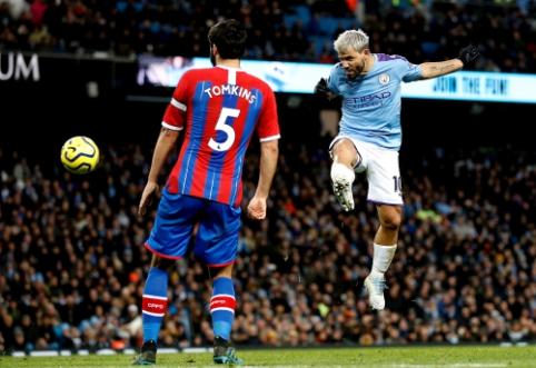 """""""Crystal Palace"""" mačo pabaigoje atėmė taškus iš """"Man City"""", """"Arsenal"""" nesusitvarkė su """"Sheffield Utd"""""""