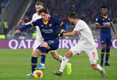 """Smūgis """"Romai"""" ir Italijos rinktinei: sunkią traumą patyręs N. Zaniolo šį sezoną nebežais"""