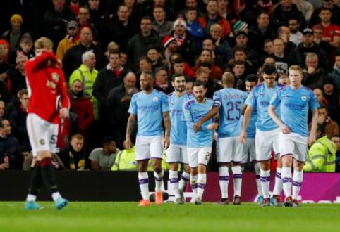 """Anglijos lygos taurė: """"Man City"""" be didesnio pasipriešinimo įveikė """"Man Utd"""""""