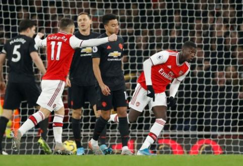 """Pirmoje rungtynių pusėje dominavęs """"Arsenal"""" įrodė pranašumą prieš """"Man Utd"""""""