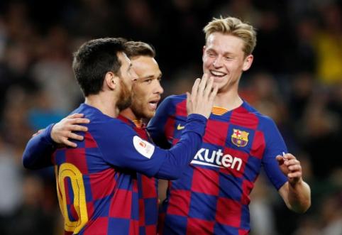 """""""Barcelona"""" triukšmingai žengė į Karaliaus taurės ketvirtfinalį, """"Sevilla"""" žygis jau baigtas"""