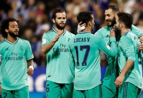 """Karaliaus taurė: """"Real"""" sutriuškino Saragosos ekipą, """"Leonesa"""" buvo arti dar vienos sensacijos"""