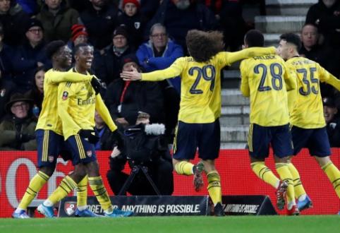 """""""Arsenal"""" prasibrovė į FA taurės aštuntfinalį"""