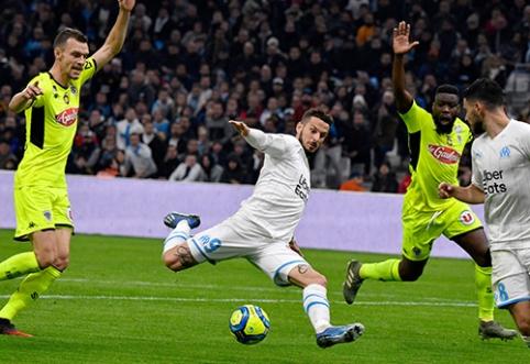 """""""Ligue 1"""": """"Marseille"""" ir """"Angers"""" dvikovoje nugalėtojas nepaaiškėjo"""