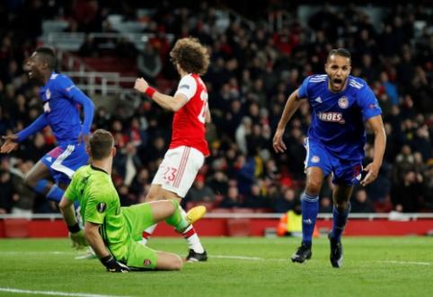 """""""Olympiacos"""" eliminavo """"Arsenal"""" iš Europos lygos"""