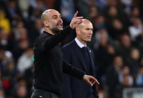 """P. Guardiola: """"Jeigu ir yra komanda, kuri gali atsitiesti, tai Madrido """"Real"""""""