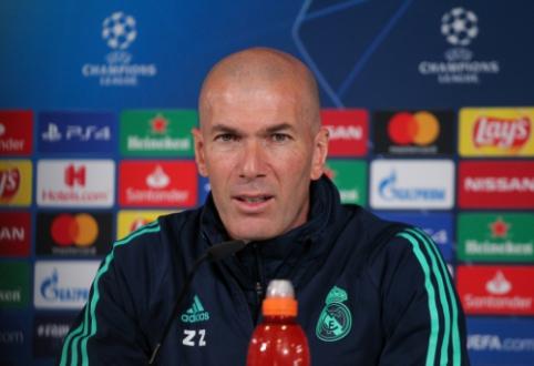 """Z. Zidane'as: """"Guardiola yra geriausias treneris pasaulyje"""""""