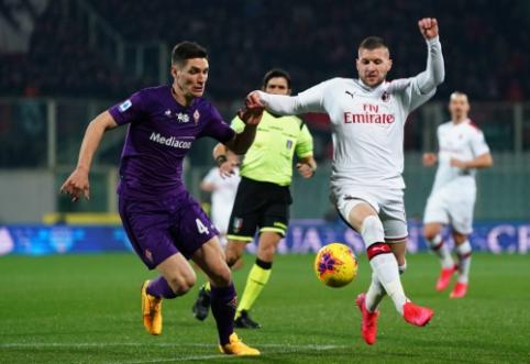 """Mažumoje likusi """"Fiorentina"""" sugebėjo atimti taškus iš """"AC Milan"""""""