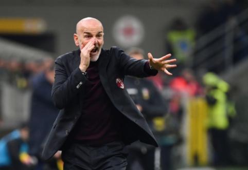 """S. Pioli po lygiųjų su """"Juventus"""" buvo nepatenkintas dėl lemiamo teisėjo sprendimo"""