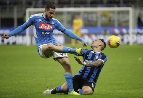 """""""Napoli"""" įgijo pranašumą Italijos taurės pusfinalyje"""
