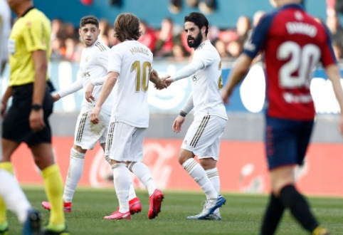 """Po ankstyvo įvarčio nepalūžęs """"Real"""" susitvarkė su """"Osasuna"""", """"Sevilla"""" krito prieš """"Celtą"""""""