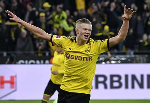 """E. Haalando dublis padėjo """"Borussia"""" sutriuškinti varžovus, """"Bayern"""" kyla į viršų"""