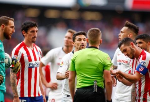 """Chaotiškoje """"Atletico"""" ir """"Sevilla"""" komandų akistatoje – lygiosios"""