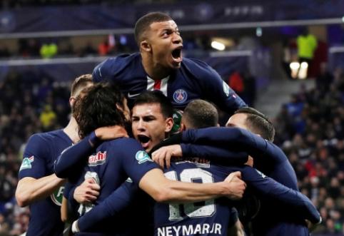 """K. Mbappe vedama PSG sutriuškino """"Lyon"""" ir žengė į Prancūzijos taurės finalą"""