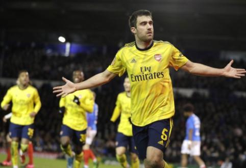 """Sokratis prakalbo apie galimybę palikti """"Arsenal"""""""