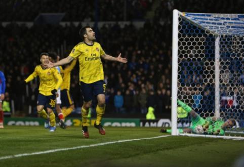 """""""Arsenal"""" įveikė """"Portsmouth"""" ir žais kitame FA taurės etape"""