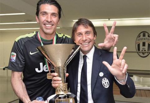 """A.Conte kelia į viršų rankas: """"Juventus"""" nepajėgus laimėti Čempionų lygos"""