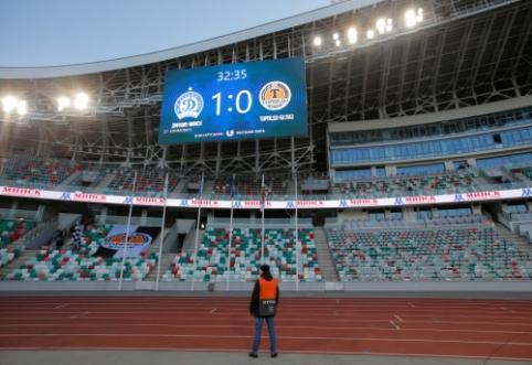 """Baltarusijos futbolo federacijos generalinis sekretorius: """"Nematome reikalo stabdyti lygos"""""""