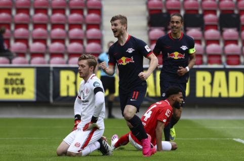 """T. Wernerio vedama """"RB Leipzig"""" ekipa nesulaukė pasipriešinimo iš """"Mainz"""""""