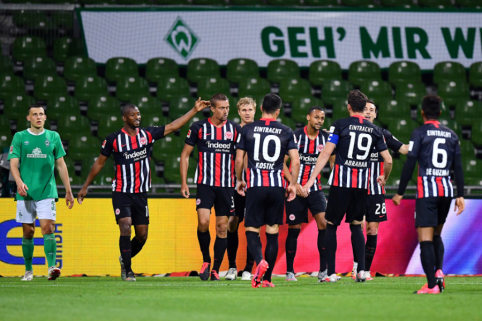 """""""Eintracht"""" šventė svarbią pergalę kovoje dėl išlikimo"""