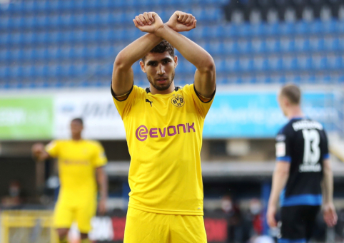 """""""Borussia"""" direktorius patvirtino, kad A. Hakimi šią vasarą grįš į Madridą, tiesa, neaišku, ar ilgam"""