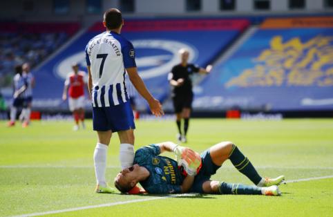 """""""Brighton"""" paskutinę rungtynių akimirką išplėšė pergalę prieš """"Arsenal"""""""