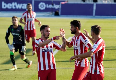 """""""Atletico"""" pratęsė pergalingą žygį Ispanijos pirmenybėse, """"Barca"""" palaužė Bilbao ekipą"""