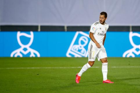 """Z. Zidane'as mačui su """"Getafe"""" neregistravo E. Hazardo"""