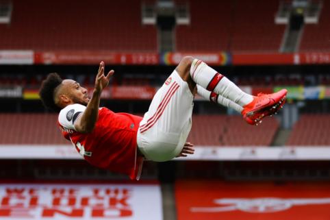 "M. Arteta: ""Aubameyangas nori likti ""Arsenal"" gretose"""