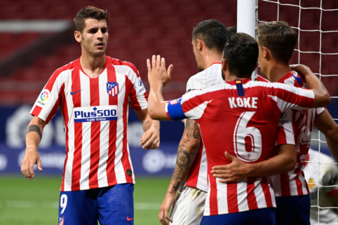 """""""Atletico"""" nesulaukė rimtesnio pasipriešinimo iš """"Mallorca"""" ekipos"""