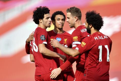 """Naujieji Anglijos čempionai tik po sunkios kovos palaužė """"Aston Villa"""""""