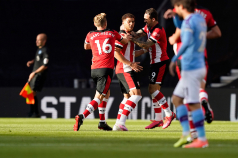 """Nuostabus C. Adamso įvartis leido """"Southampton"""" ekipai džiaugtis netikėta pergale prieš """"Man City"""""""