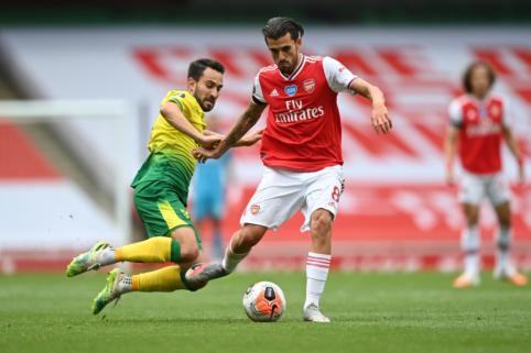 """M. Arteta norėtų, kad D. Ceballosas liktų """"Arsenal"""" gretose"""