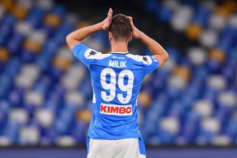 """A. Milikas šią vasarą greičiausiai paliks """"Napoli"""" ekipą"""